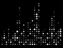 Dotted sound wave, equalizer isolated on black background Royalty Free Stock Image