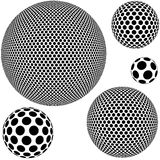 Dotted Sphere. Abstract Background Illustration, Vector Stock Photography