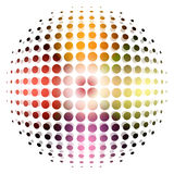 Dotted sphere background Stock Images