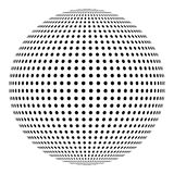 Dotted sphere, ball design element. Royalty Free Stock Photo