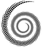 Dotted spiral element. Concentric swirling circles. Geometric ab. Stract illustration - Royalty free vector illustration Stock Image