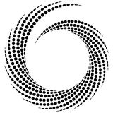 Dotted spiral element. Concentric swirling circles. Geometric ab. Stract illustration - Royalty free vector illustration Royalty Free Stock Photography