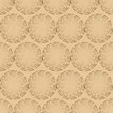 Dotted spiral seamless pattern background Stock Photo
