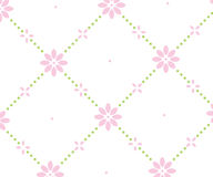 Dotted square floral background Stock Image