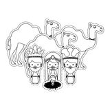 Dotted sticker silhouette set collection kin mages and god Royalty Free Stock Images