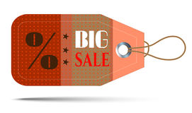 Dotted sticker with text Big Sale Stock Image