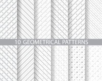 Dotted and striped patterns Stock Image