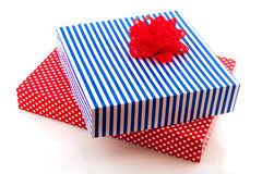 Dotted and stripes gifts Stock Images