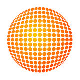 Dotted sun. Vector dotted sun with yellow-orange gradient Stock Images