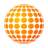 Dotted sun. Vector dotted sun with yellow-orange gradient Royalty Free Stock Photo