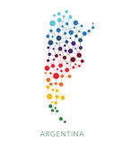 Dotted texture Argentina vector background Royalty Free Stock Photos