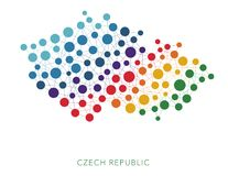 Dotted texture Czech Republic vector background Royalty Free Stock Photos