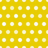 Dotted texture, gold and white circles vector seamless pattern Stock Photos