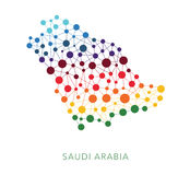 Dotted texture Saudi Arabia vector background Royalty Free Stock Image