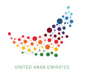 Dotted texture United Arab Emirates vector Stock Photography