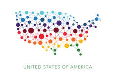 Dotted texture USA vector background Stock Images