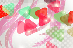 Dotted triangle and waves , abstract background Royalty Free Stock Photo