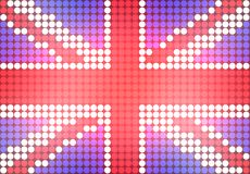 Dotted UK Flag Stock Photography