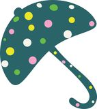 Dotted umbrella illustration Royalty Free Stock Images