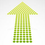 Dotted Up Arrow in Perspective. Eps 10 Vector Illustration of a Dotted Up Arrow in Perspective Stock Photos