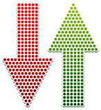 Dotted Up Down Arrows Royalty Free Stock Images