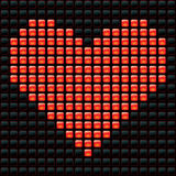 Dotted Valentine. Vector illusrtation of dotted heart Vector Illustration