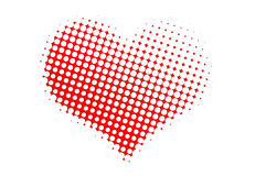 Dotted valentine heart Royalty Free Stock Photo