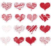 Dotted valentines collection Stock Photo