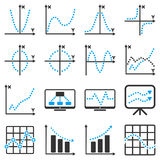 Dotted vector infographic business icons Royalty Free Stock Photos