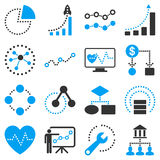 Dotted vector infographic business icons Royalty Free Stock Photography