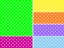 Dotted Vector Swatches in Six Spring Colors Royalty Free Stock Photos