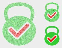 Dotted Vector Valid Weight Icons. Pixel and mosaic valid weight icons. Vector icon of valid weight designed of scattered round dots. Other pictogram is created stock illustration