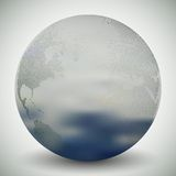 Dotted world globe, blurred design vector Royalty Free Stock Images