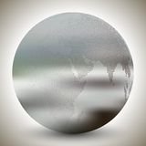 Dotted world globe, blurred design vector Royalty Free Stock Photo