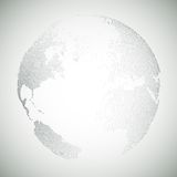 Dotted world globe, light design vector Royalty Free Stock Photos