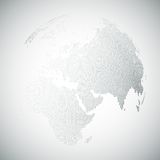 Dotted world globe, light design vector Royalty Free Stock Photography