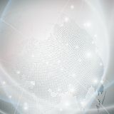 Dotted world globe, light design vector. Illustration Stock Image