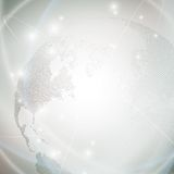 Dotted world globe, light design vector Royalty Free Stock Photo