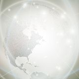 Dotted world globe, light design vector. Illustration Royalty Free Stock Photography