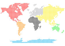 Dotted world map. 2d Royalty Free Illustration