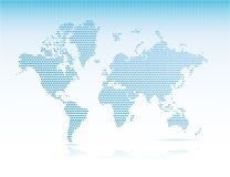 Dotted world map Stock Images