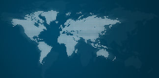Dotted World Map Stock Image
