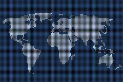 Dotted world map Royalty Free Stock Photo
