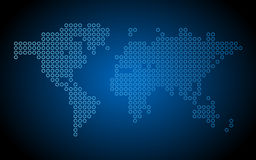 Dotted world map Stock Photography