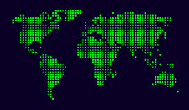 Dotted world map vector illustration