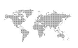 Dotted world map. Vector dotted world map. Easy change colors Royalty Free Stock Image