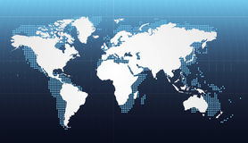 Dotted world map Stock Photo