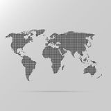 Dotted world map. Abstract background of dotted world map black color isolated on gray background Vector Illustration