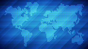 Dotted world map background Stock Photo