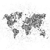 Dotted world map. The concept illustration of globe Stock Image